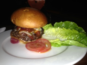 The trademark wagyu burger
